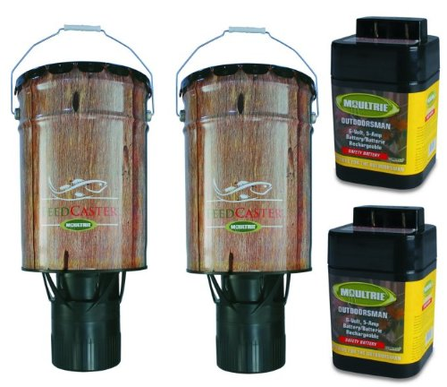 2-Moultrie-6-Gallon-Automatic-Pond-Fish-Feeders-2-6V-Rechargeable-Batteries-0