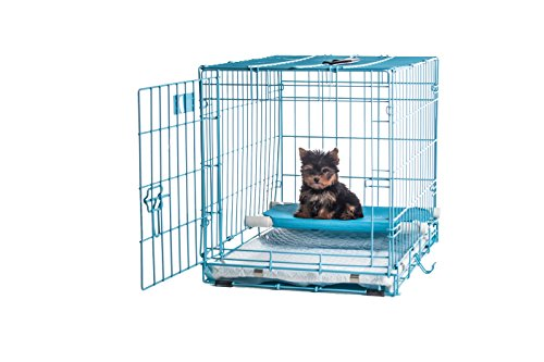 24-Pup-Pee-Palace-Training-Cage-BLUE-Elevated-Loft-Tray-Pads-Pad-Clips-0