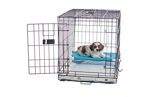 30-Pup-Pee-Palace-Training-Cage-BLACK-Elevated-Loft-BLUE-Tray-Pads-Pad-Clips-0