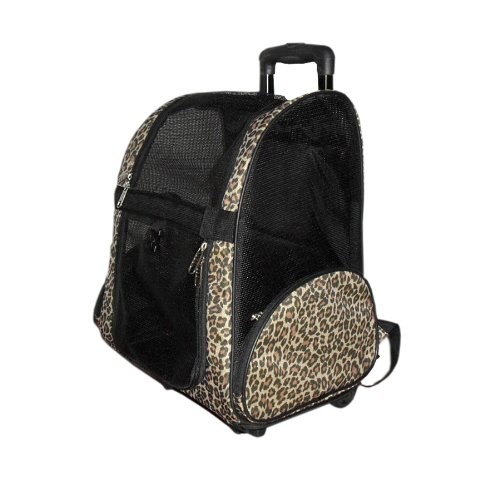 Animal-Airplane-Travel-Carrier-on-Wheel-14-Inch-by-10-Inch-by-19-Inch-Leopard-Print-0