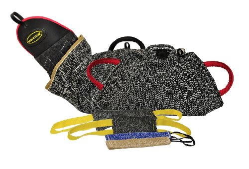Dean-Tyler-6-Piece-Professional-Training-Bundle-Set-for-Dogs-with-1-Intermediate-Sleeve1-Young-Dog-Bite-Builder2-Pocket-Tugs1-Small-Tug1-Medium-Tug-0