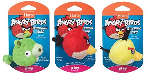 HARTZ-Hartz-Angry-Birds-Running-Bird-Cat-Toy-toy-May-Vary-Officially-Licensed-By-Rovio-EA-Pack-of-12-0