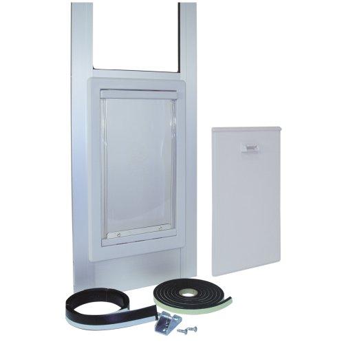 Ideal-Pet-Products-96-Inch-White-Patio-Door-with-Pet-Door-0-0