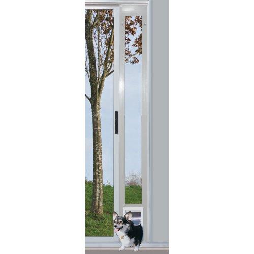 Ideal-Pet-Products-96-Inch-White-Patio-Door-with-Pet-Door-0-1
