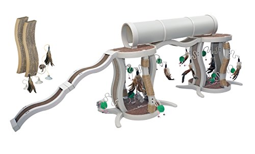 Innovation-Pet-Kitty-Connection-Deluxe-Twin-Tower-and-Ramp-Set-0