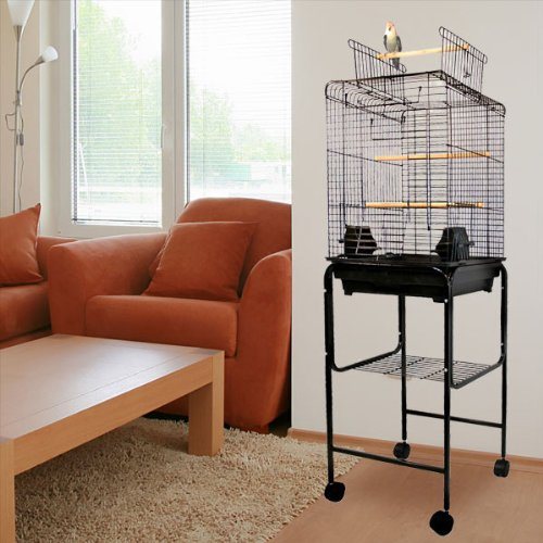 Kiko-Kondo-Playtop-Bird-Cage-16W-x-16D-x-51H-With-Stand-or-Without-or-Stand-Only-2-Colors-Available-0