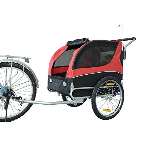Mdog-MK0065A-Comfy-Pet-Bike-Trailer-RedBlack-0-0