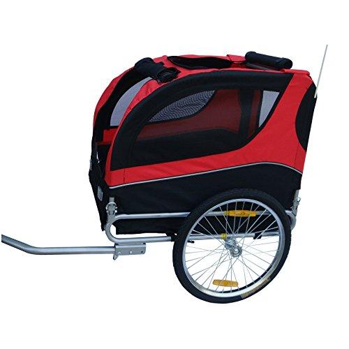 Mdog-MK0065A-Comfy-Pet-Bike-Trailer-RedBlack-0-1