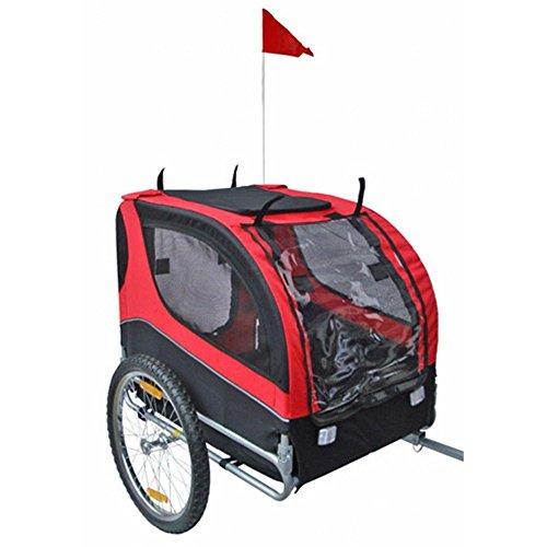 Mdog-MK0065A-Comfy-Pet-Bike-Trailer-RedBlack-0