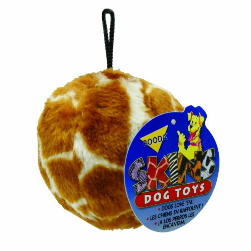 Petmate-Skins-Pattern-Dog-Toy-Ball-Shaped-featuring-a-Leopard-and-Giraffe-pattern-3-pack-Medium-0-0