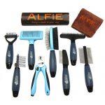 Alfie-Pet-by-Petoga-Couture-Devin-8-piece-Home-Grooming-Set-Flea-Comb-Double-Comb-Demat-Comb-Mat-Breaker-Slicker-Brush-Double-Brush-Undercoat-Rake-Nail-Clipper-General-Purpose-Ultimate-0