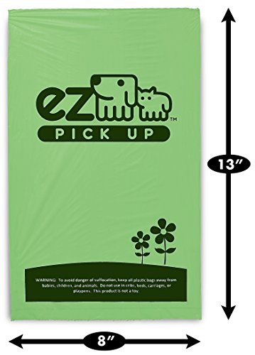 1000-Pet-Waste-Disposal-Dog-Poop-Bags-EZ-Pickup-Bags-Green-single-roll-not-on-small-rolls-0-0