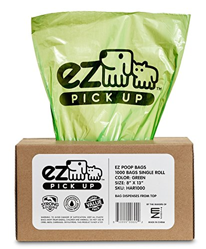 1000-Pet-Waste-Disposal-Dog-Poop-Bags-EZ-Pickup-Bags-Green-single-roll-not-on-small-rolls-0