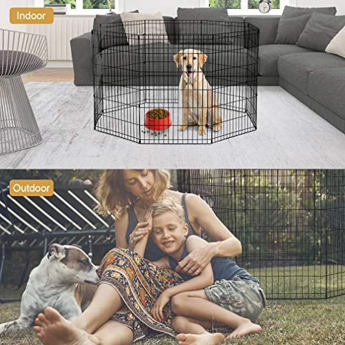 2-Door-Pet-Wire-Cage-with-ABS-Pan-0-1
