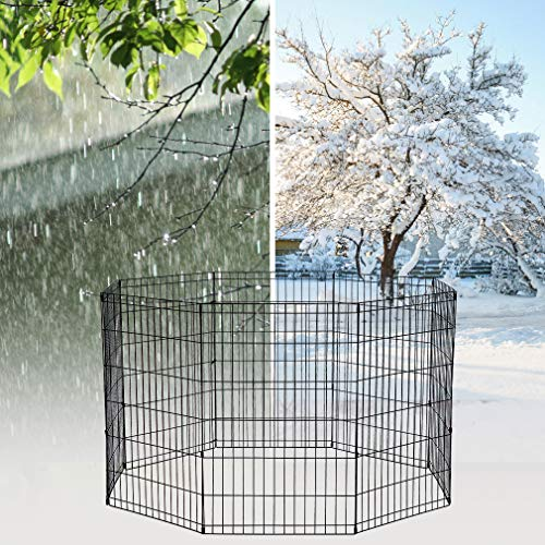 2-Door-Pet-Wire-Cage-with-ABS-Pan-0-2