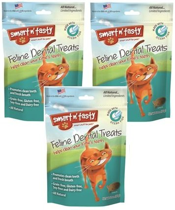 3-Pack-Smart-n-Tasty-Cat-Ocean-Fish-Dental-Grain-Free-Treats-3-Ounce-each-0