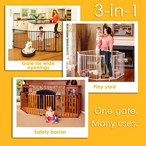 3-in-1-Extra-Wide-Gated-Wood-Superyard-by-North-States-Create-a-Play-Yard-or-an-Extra-Wide-gate-Hardware-Mount-or-freestanding-6-Panel-10-sq-ft-Enclosure-151-Long-30-Tall-Light-Gray-0-1