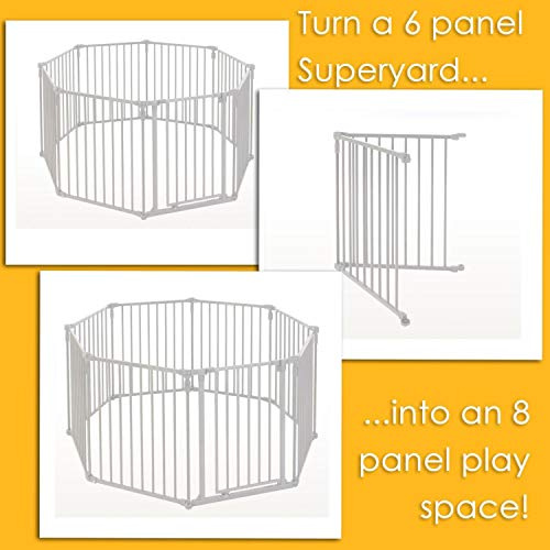 3-in-1-Metal-Superyard-Two-Panel-Extension-by-North-States-Adds-2-Panels-to3-in-1-Metal-Superyard-for-an-Extra-Wide-gate-or-Portable-Play-Yard-Adds-up-to-48-Width-Gray-0-1