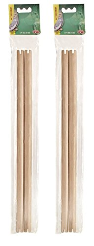 4-Pack-Living-World-19-Inch-Wooden-Perches-2-Packages-with-2-Perches-each-0