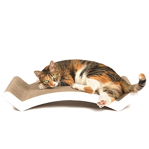 4CLAWS-Scratching-Lounge-Bed-White-Basics-Collection-Cat-Scratcher-0-1