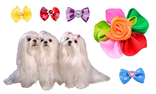 50pcspack-Cute-New-Dog-Hair-Bows-Pairs-Rhinestone-Pearls-Flowers-Topknot-Mix-Styles-Dog-Bows-Pet-Grooming-Products-Mix-Colors-Pet-Hair-Bows-Topknot-Rubber-Bands-0-0