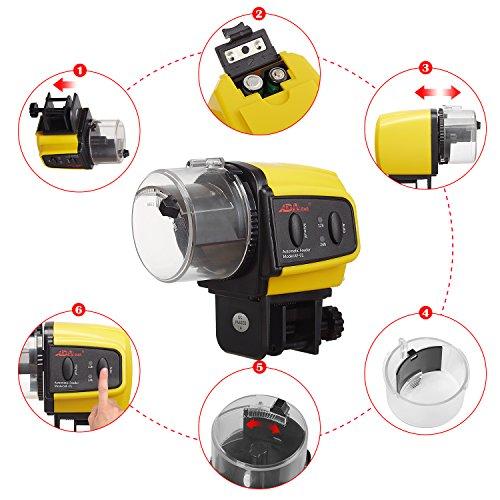ADA-Automatic-Fish-Feeder-Aquarium-Tank-Auto-Fish-Food-Timer-Capacity-Adjustable-for-Business-TripTravelUrgent-Business-Batteries-Included-0-0