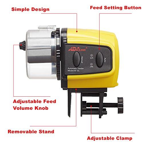 ADA-Automatic-Fish-Feeder-Aquarium-Tank-Auto-Fish-Food-Timer-Capacity-Adjustable-for-Business-TripTravelUrgent-Business-Batteries-Included-0-1