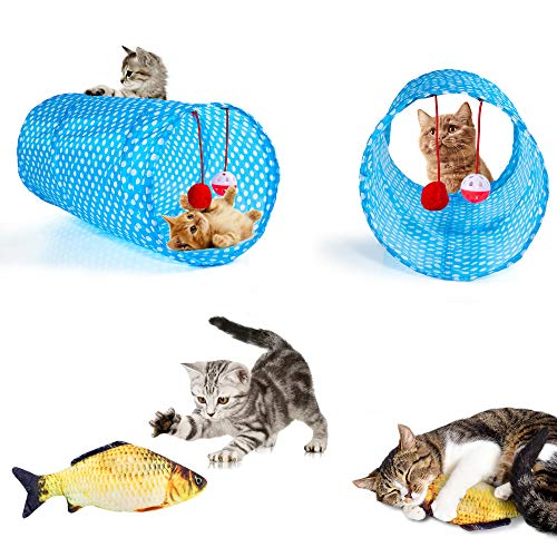 AILUKI-26PCS-Cat-Toys-Kitten-Toys-Assortments-Variety-Catnip-Toy-Set-Including-2-Way-TunnelCat-Feather-TeaserCatnip-FishMiceColorful-Balls-and-Bells-for-CatPuppyKitty-0-0