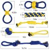 AILUKI-Dog-Rope-Toy-10-Pack-Sets-Squeaky-Toys-Rope-Toys-Plush-Games-Chewing-Ropes-Balls-Rubber-Bone-Carry-BagVariety-Playing-Set-Small-to-Medium-DogsDurable-Washable-0-0