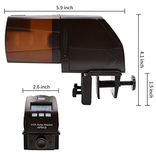 AQQEF-Automatic-Fish-Feeder-AF012-Turtle-Feeder-Digital-Fish-Food-Timer-Programmable-Food-Dispenser-for-Fish-with-LCD-Display-for-Weekend-Holiday150ml-0-2