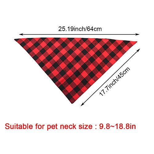 ASOCEA-2PCS-Pet-Dog-Bandana-Valentines-Day-Triangle-Bibs-Scarf-Double-Cotton-Plaid-Printing-Kerchief-Set-for-Medium-Large-Size-Dogs-0-0