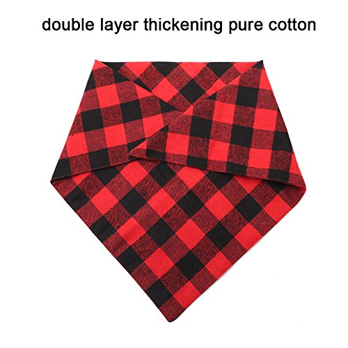 ASOCEA-2PCS-Pet-Dog-Bandana-Valentines-Day-Triangle-Bibs-Scarf-Double-Cotton-Plaid-Printing-Kerchief-Set-for-Medium-Large-Size-Dogs-0-1