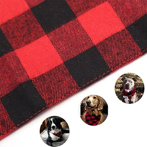 ASOCEA-2PCS-Pet-Dog-Bandana-Valentines-Day-Triangle-Bibs-Scarf-Double-Cotton-Plaid-Printing-Kerchief-Set-for-Medium-Large-Size-Dogs-0-2