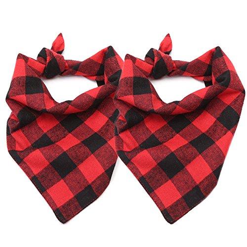 ASOCEA-2PCS-Pet-Dog-Bandana-Valentines-Day-Triangle-Bibs-Scarf-Double-Cotton-Plaid-Printing-Kerchief-Set-for-Medium-Large-Size-Dogs-0