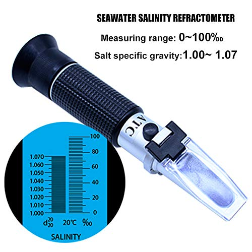 AUTIDEFY-Salinity-Refractometer-for-Seawater-and-Marine-Fishkeeping-Aquarium-0-100-PPT-Automatic-Temperature-Compensation-Salt-Water-Tester-0