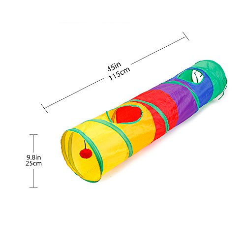 Ace-one-Cat-Tunnel-Pet-Tube-Collapsible-Play-Toy-Indoor-Outdoor-Kitty-Puppy-Toys-for-Puzzle-Exercising-Hiding-Training-and-Running-with-Fun-Ball-and-Two-Peek-Hole-0-1