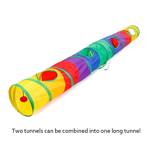 Ace-one-Cat-Tunnel-Pet-Tube-Collapsible-Play-Toy-Indoor-Outdoor-Kitty-Puppy-Toys-for-Puzzle-Exercising-Hiding-Training-and-Running-with-Fun-Ball-and-Two-Peek-Hole-0-2