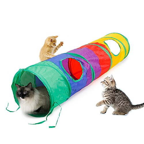 Ace-one-Cat-Tunnel-Pet-Tube-Collapsible-Play-Toy-Indoor-Outdoor-Kitty-Puppy-Toys-for-Puzzle-Exercising-Hiding-Training-and-Running-with-Fun-Ball-and-Two-Peek-Hole-0