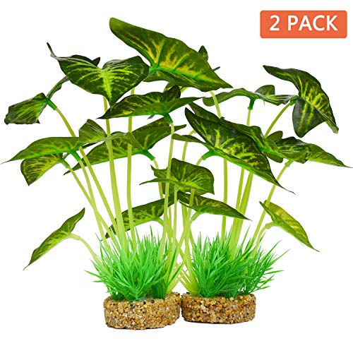 Aquarium-Plants-DecorationArtificial-Plants-for-Fish-Tank10-Inches25cm-High2-Pack-0