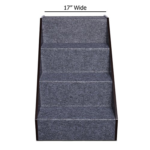 Arf-Pets-Wood-Dog-Stairs-4-Levels-Height-Adjustment-Wide-Pet-Steps-Foldable-0-1