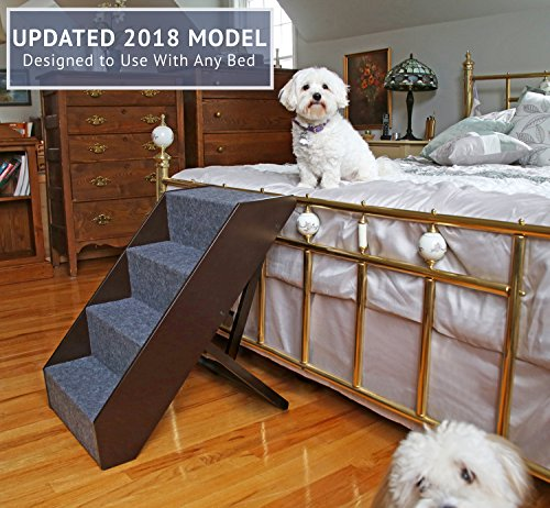 Arf-Pets-Wood-Dog-Stairs-4-Levels-Height-Adjustment-Wide-Pet-Steps-Foldable-0-2