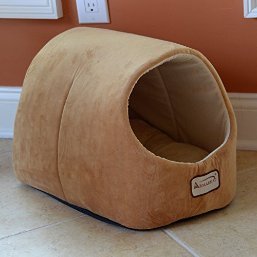 Armarkat-Cat-Dog-Pet-Bed-House-in-Brown-0-0