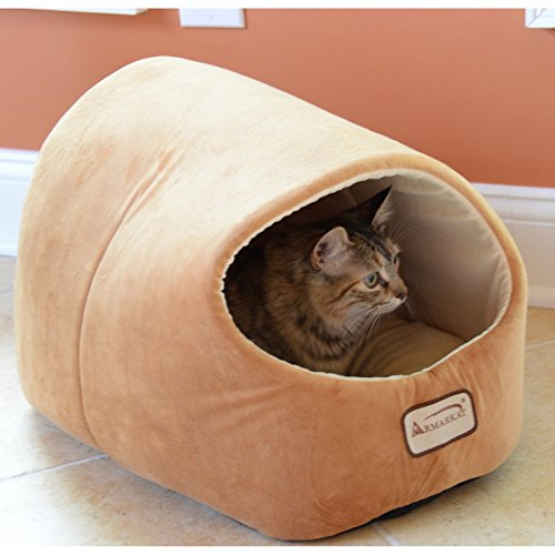 Armarkat-Cat-Dog-Pet-Bed-House-in-Brown-0-2