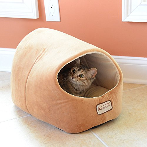 Armarkat-Cat-Dog-Pet-Bed-House-in-Brown-0