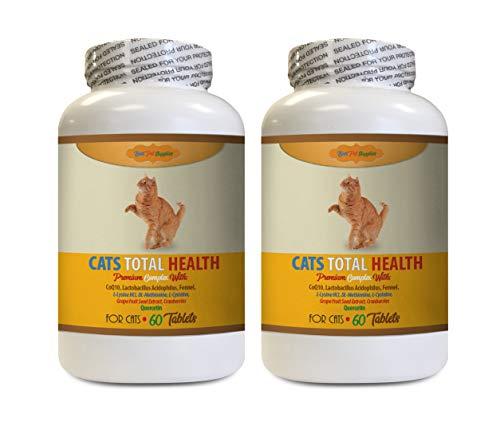BEST-PET-SUPPLIES-LLC-cat-Immune-Booster-Treats-Cats-Total-Health-Complex-Premium-Formula-Coat-Joint-Oral-Eye-Immune-Health-Cats-Immune-Support-120-Tables-2-Bottles-0