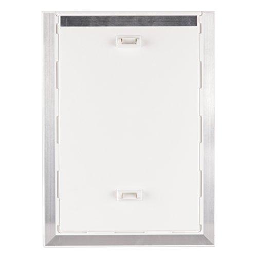 BarksBar-Original-Plastic-Dog-Door-with-Aluminum-Lining-White-Soft-Flap-2-Way-Locking-Sliding-Panel-and-Telescoping-Frame-0-2