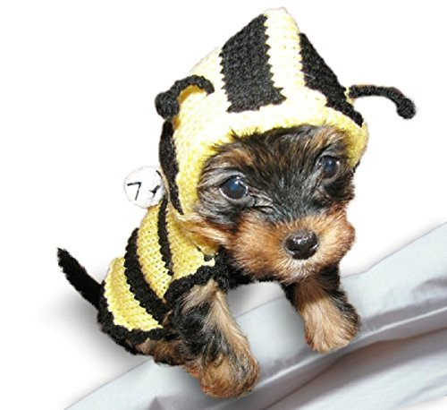 Bee-Dog-Sweater-Dog-Costume-Yorkie-Clothes-Hoodie-Pet-Apparel-Puppy-Clothing-Outfit-Different-Sizes-0
