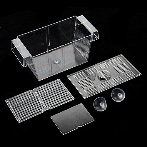 BeesClover-Aquarium-Hatchery-Trap-Fish-Breeding-Plastic-Box-Tank-Fry-Floating-Breeder-Isolation-Box-0-0