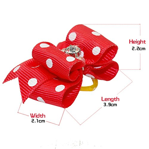 Beirui-20pcs-Cute-Dog-Hair-Bows-with-Rubber-Bands-Adorable-Crystal-Rhinestone-Studded-Sparkly-Nylon-Pet-Grooming-Accessoriess-for-Long-Hair-Dog-Kitten-0-0