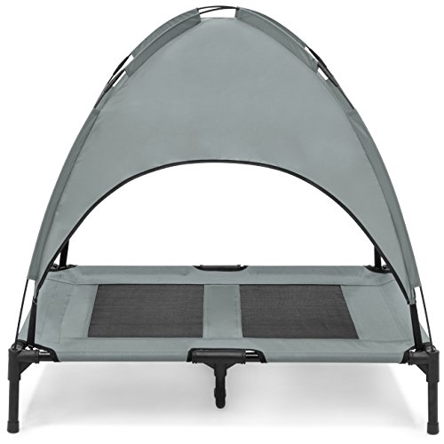 Best-Choice-Products-36in-Raised-Mesh-Cot-Cooling-Dog-Bed-wRemovable-Canopy-Tent-Travel-Bag-0-0